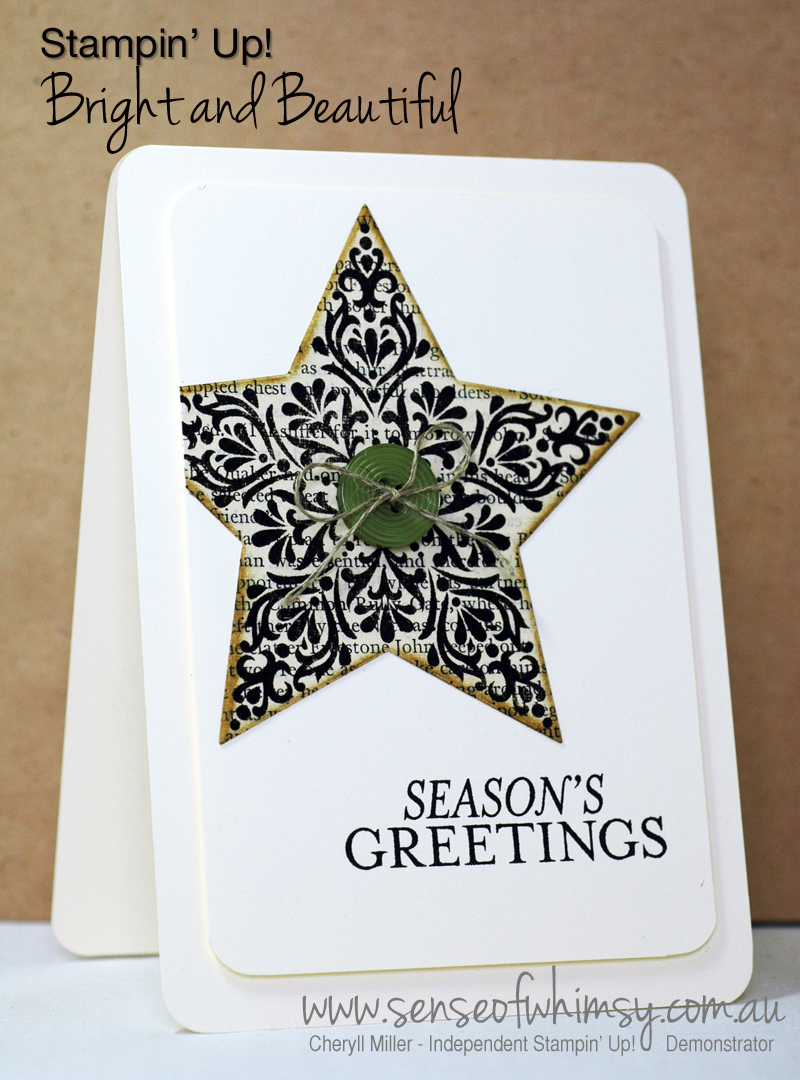 Bright and Beautiful Xmas Card