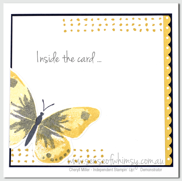 Watercolour Wings Inside of Card