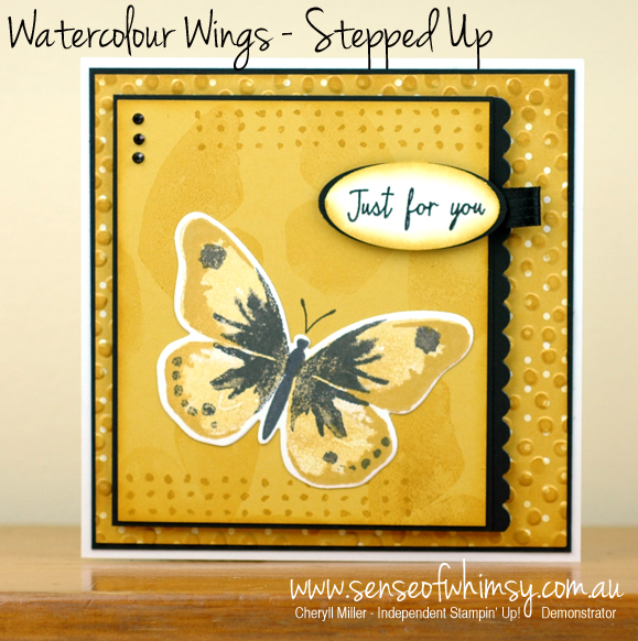 Watercolour Wings Stepped Up
