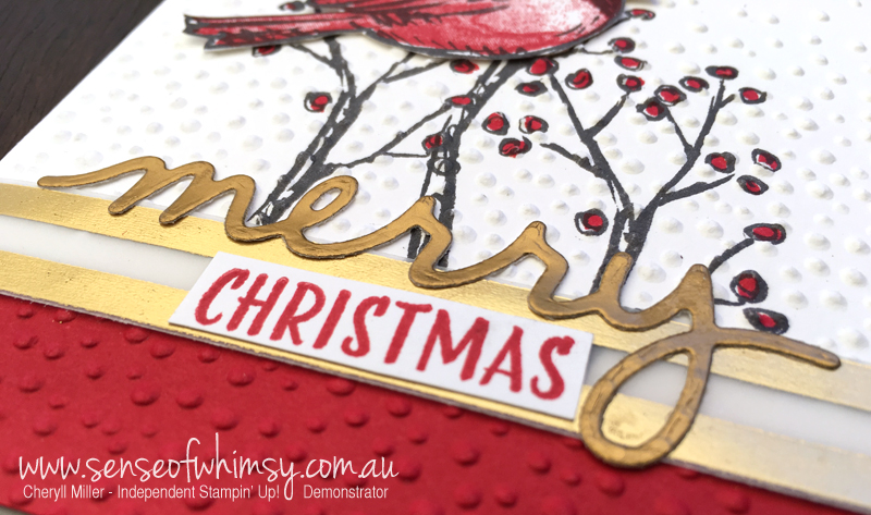 Close up of Christmas Greetings Thinlets Diecut