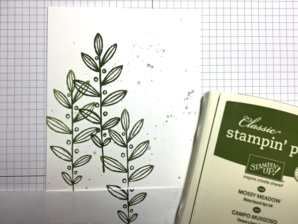 Step 2 Stamp Leaves