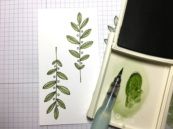 Step 4 Watercolour Leaves