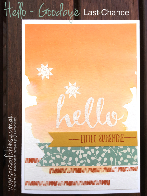 Sale-A-Bration Hello Simple