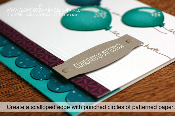 Scalloped Edging on Balloons Card