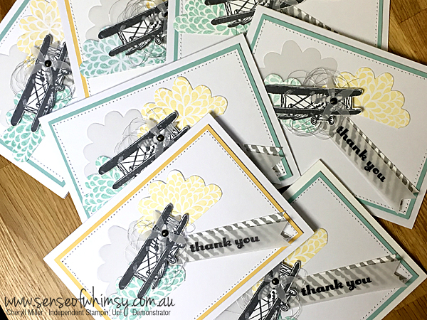 Squadron of Sky is the Limit Thank You cards