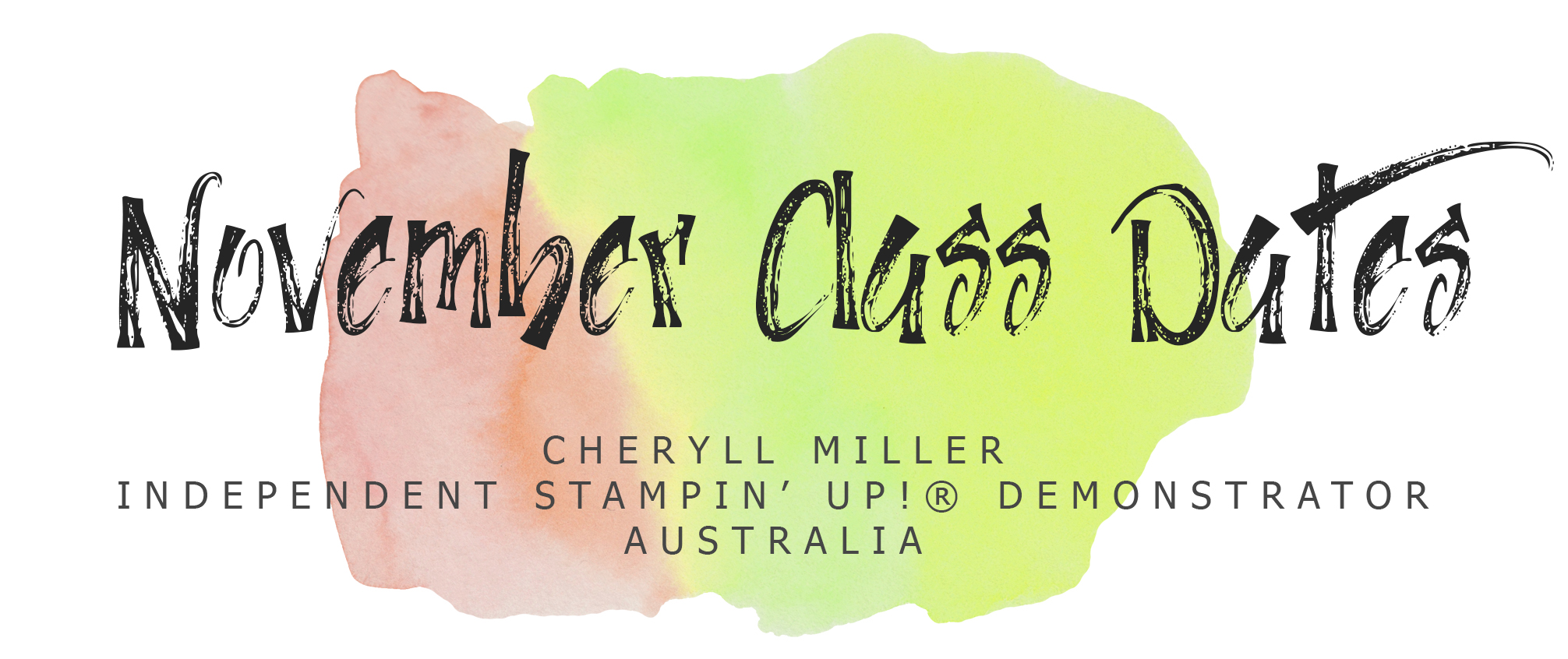 November Cardmaking Class Dates