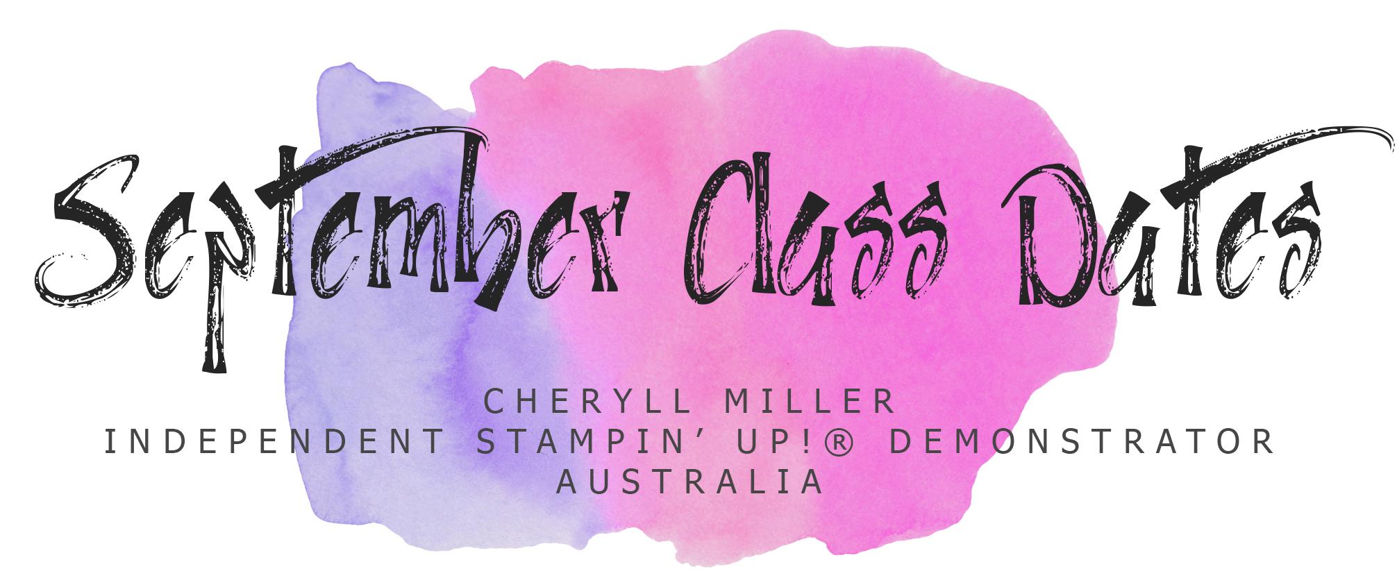 September Class Dates