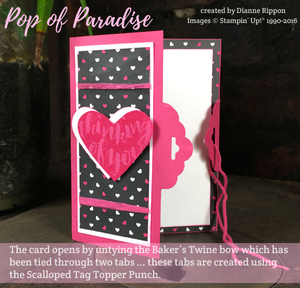 Pop of Paradise Opening the Card