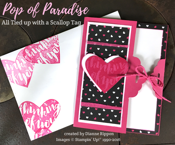 Pop of Paradise card and envelope