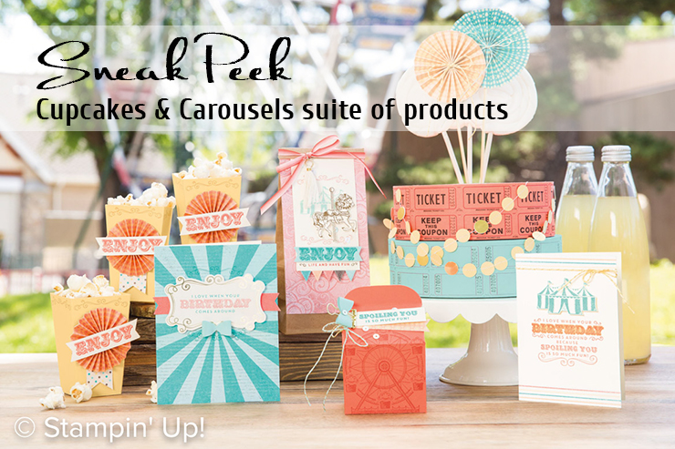 Sneaky New Year Cupcakes and Carousels
