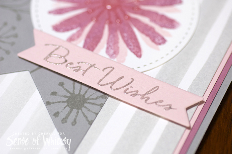 Embossed Best Wishes