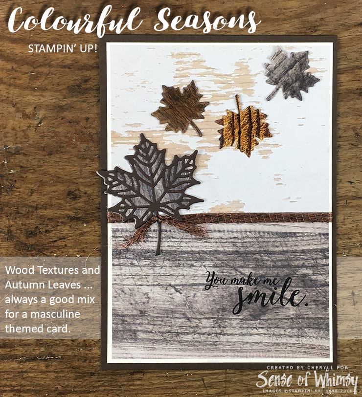 Colourful Seasons Masculine Card