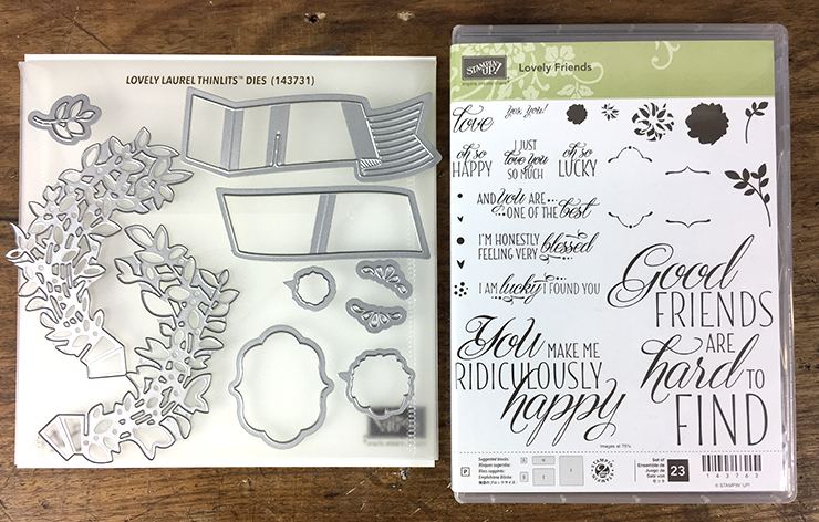 Lovely Laurel Thinlits and Lovely Friends Stamp Set