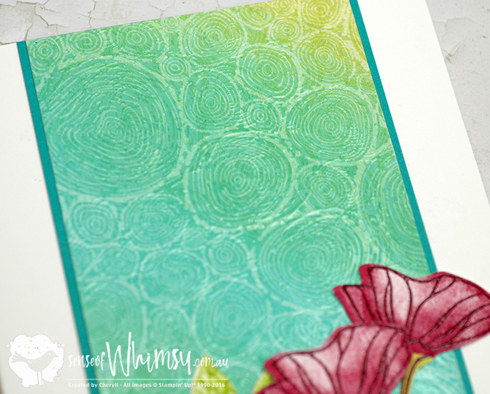 Creating Kindness Design Team Blog Hop Textural Card created with the Tree Rings Background Stamp