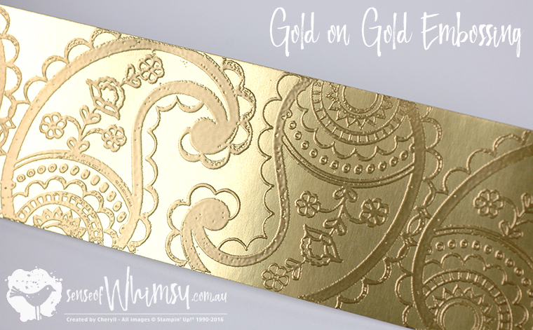 Gold Embossing on Gold Foil