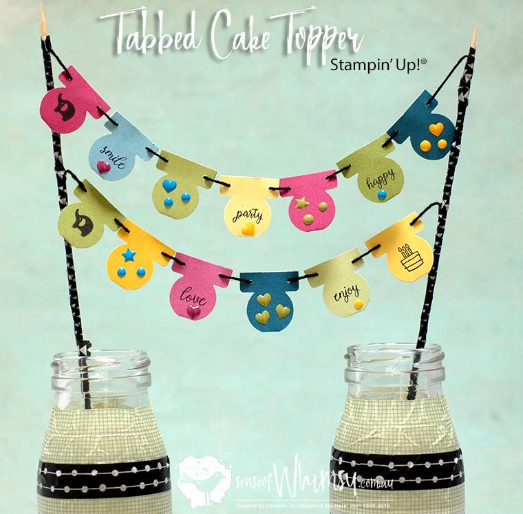 Tabbed Cake Topper