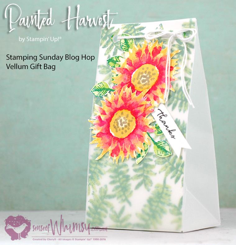 Painted Harvest Vellum Gift Bag