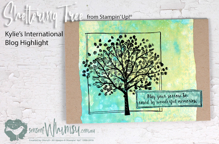 Sympathy card created with Sheltering Tree