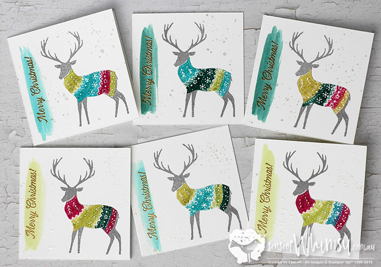 Merry Patterns Deers in Sweaters