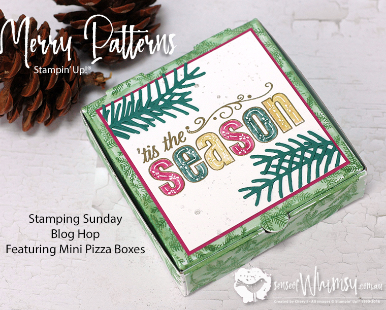 Mini Pizza Boxes and Merry Patterns
