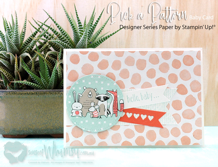 Pick a Pattern Baby Card
