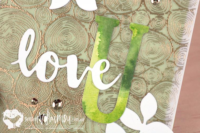 Love U Large Letters Framelits Dies