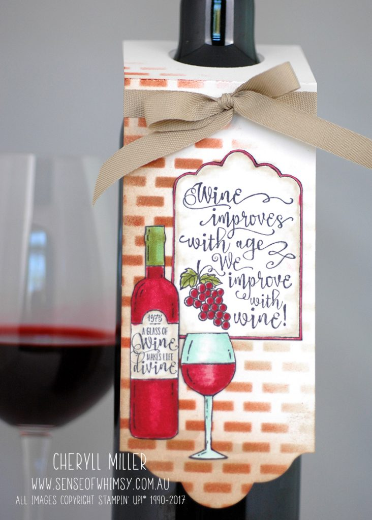Half Full Wine Bottle Tag