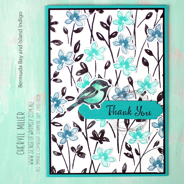 Petal Palette Blue Bird Square