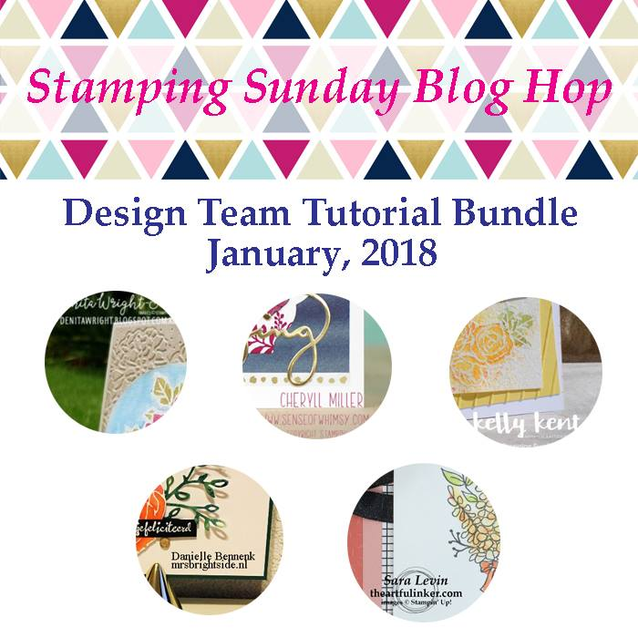 January 2018 Stamping Sunday Blog Hop Tutorial Bundle