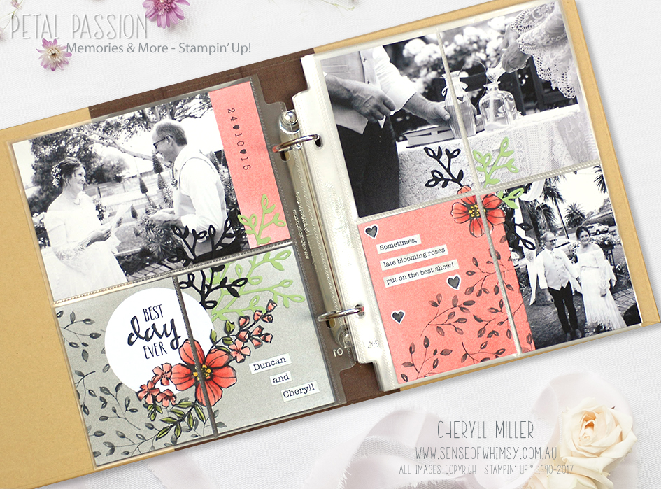 Petal Passion Wedding Pocket Layout
