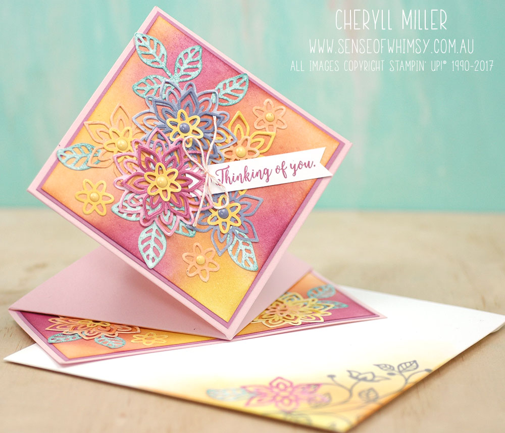 Spring Fold Card with Flourishes