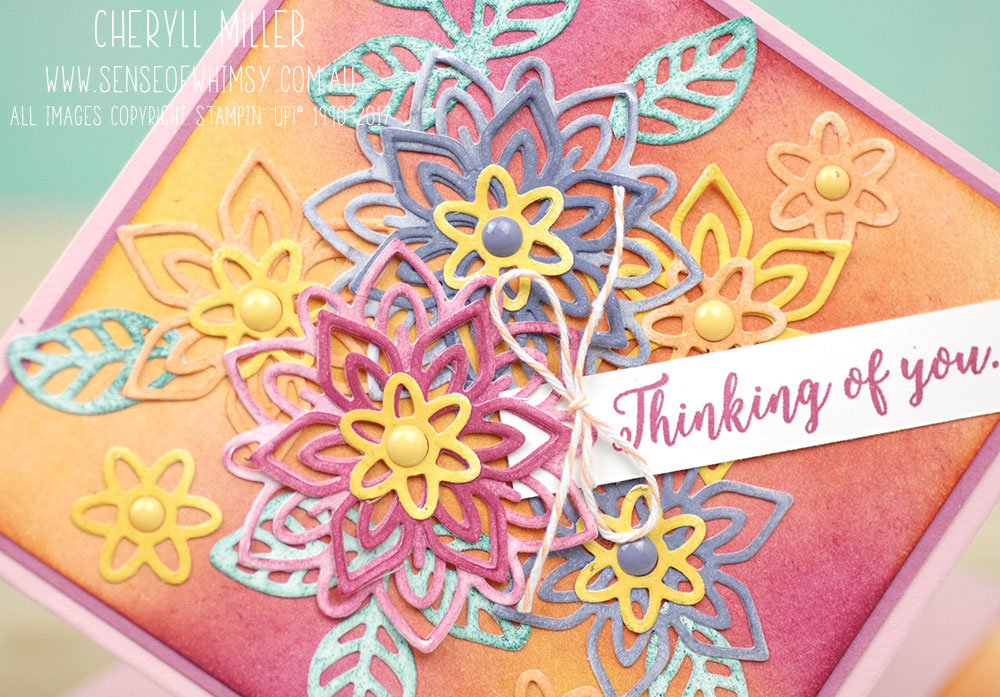 Spring Fold Card Close Up