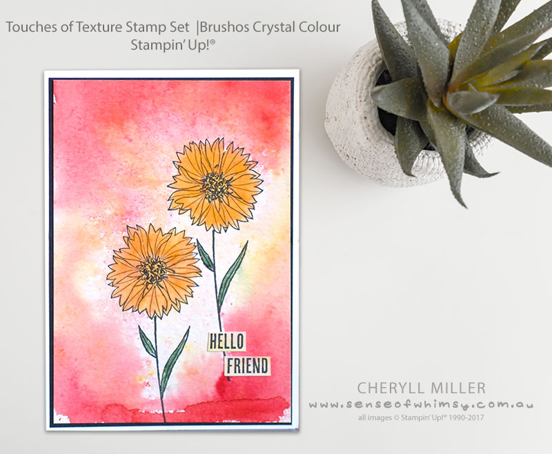 Stampin' Dreams Brusho Colouring