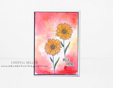 Stampin' Dreams colouring with Brusho Crystal Colour