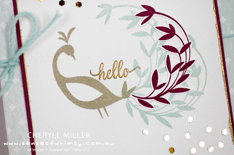Gold Embossing Hello