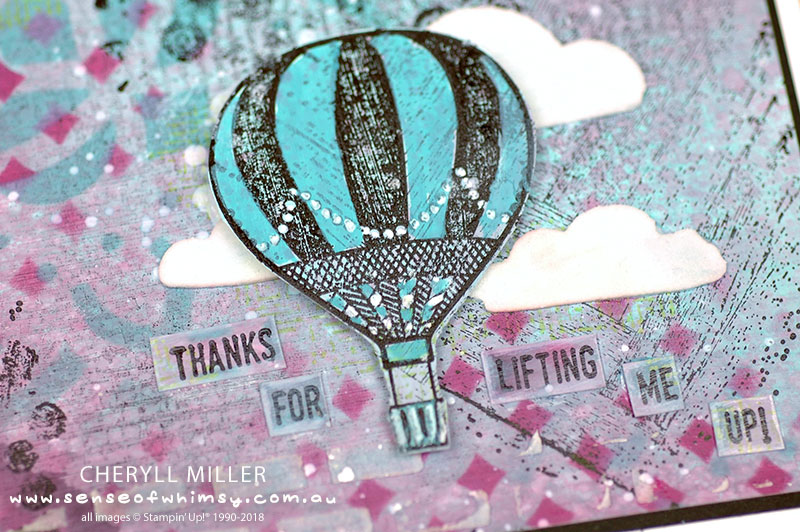 Close up of Lift Me Up Balloon