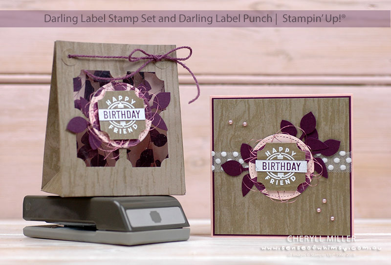 Darling Label Gift Bag and Card