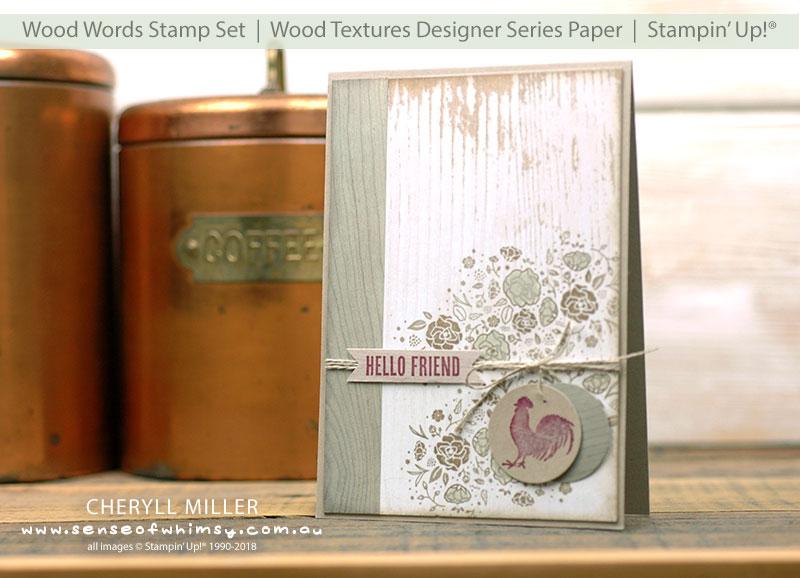 Wood Words Rustic Card