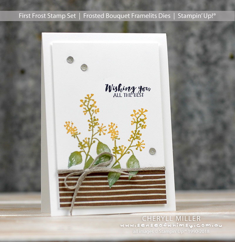 First Frost Wattle Day Card