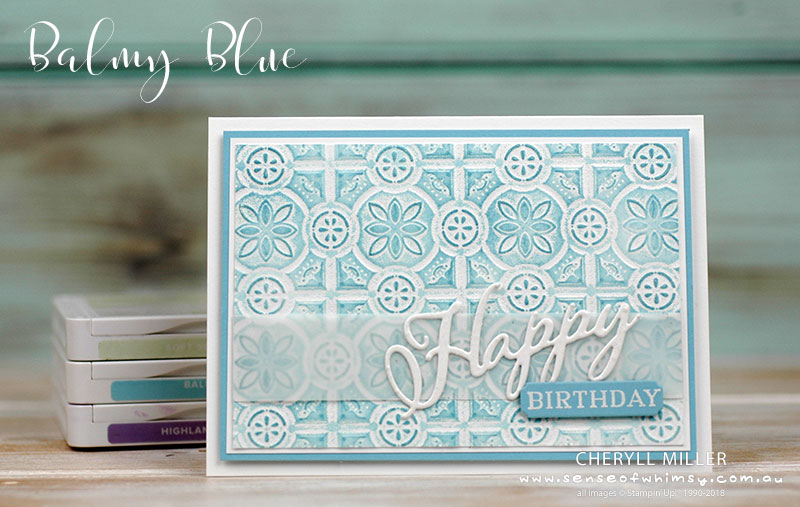 Balmy Blue Double Embossing