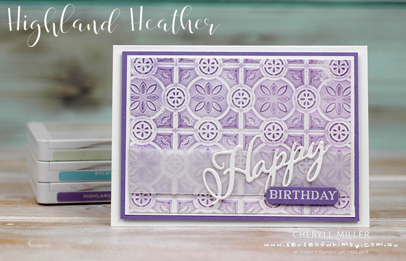 Highland Heather Double Embossed