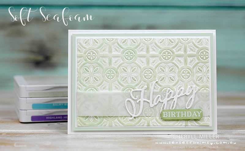 Soft Seafoam Double Embossing