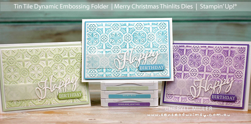Tin Tile Double Embossed Cards