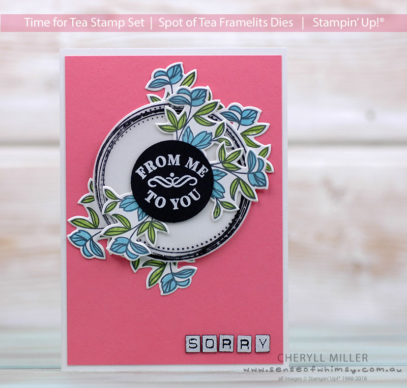 Time for Tea Sorry Card