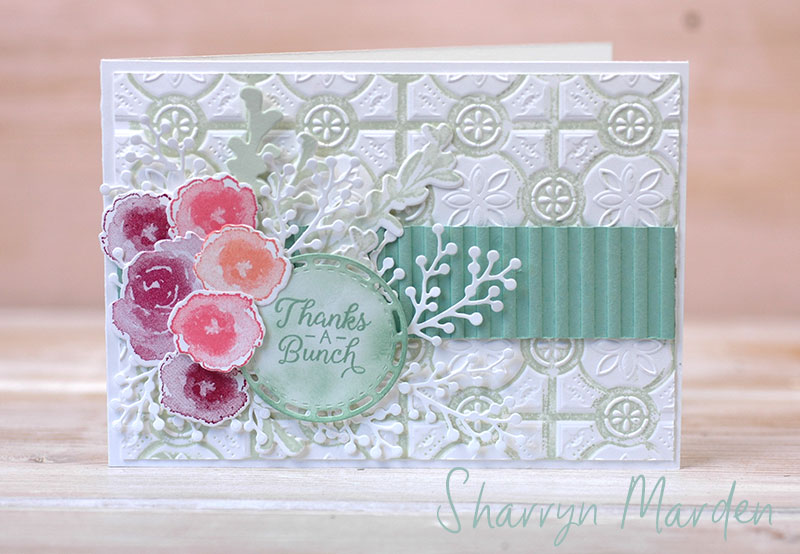 Tin Tile embossing Folder Sharryn