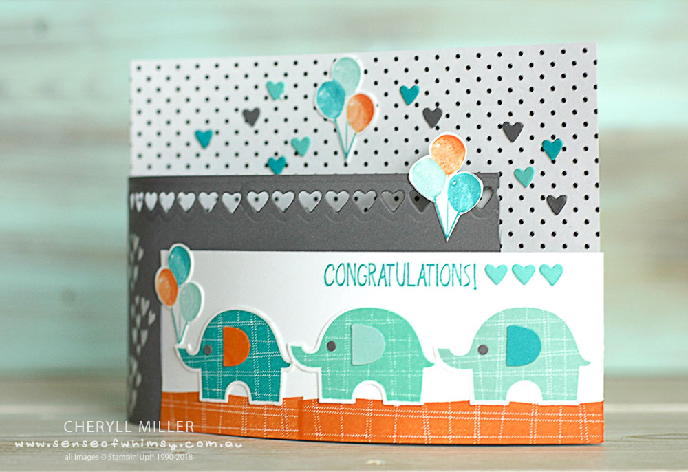 Bendi Fold Card Little Elephant