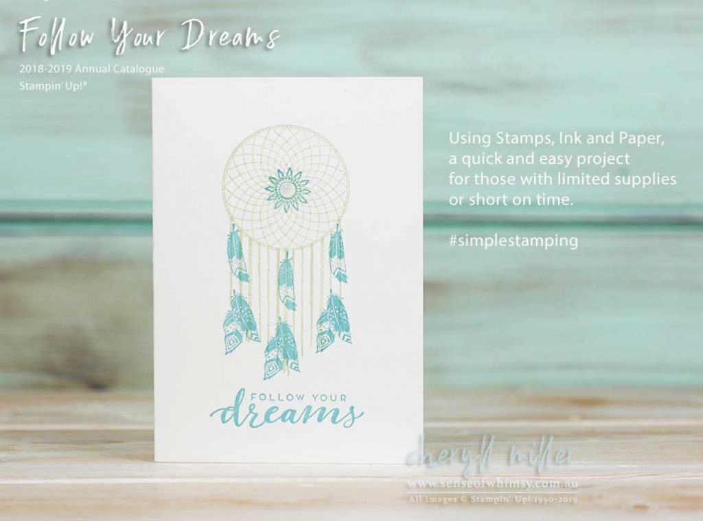 Follow Your Dreams for Beginner Stamper