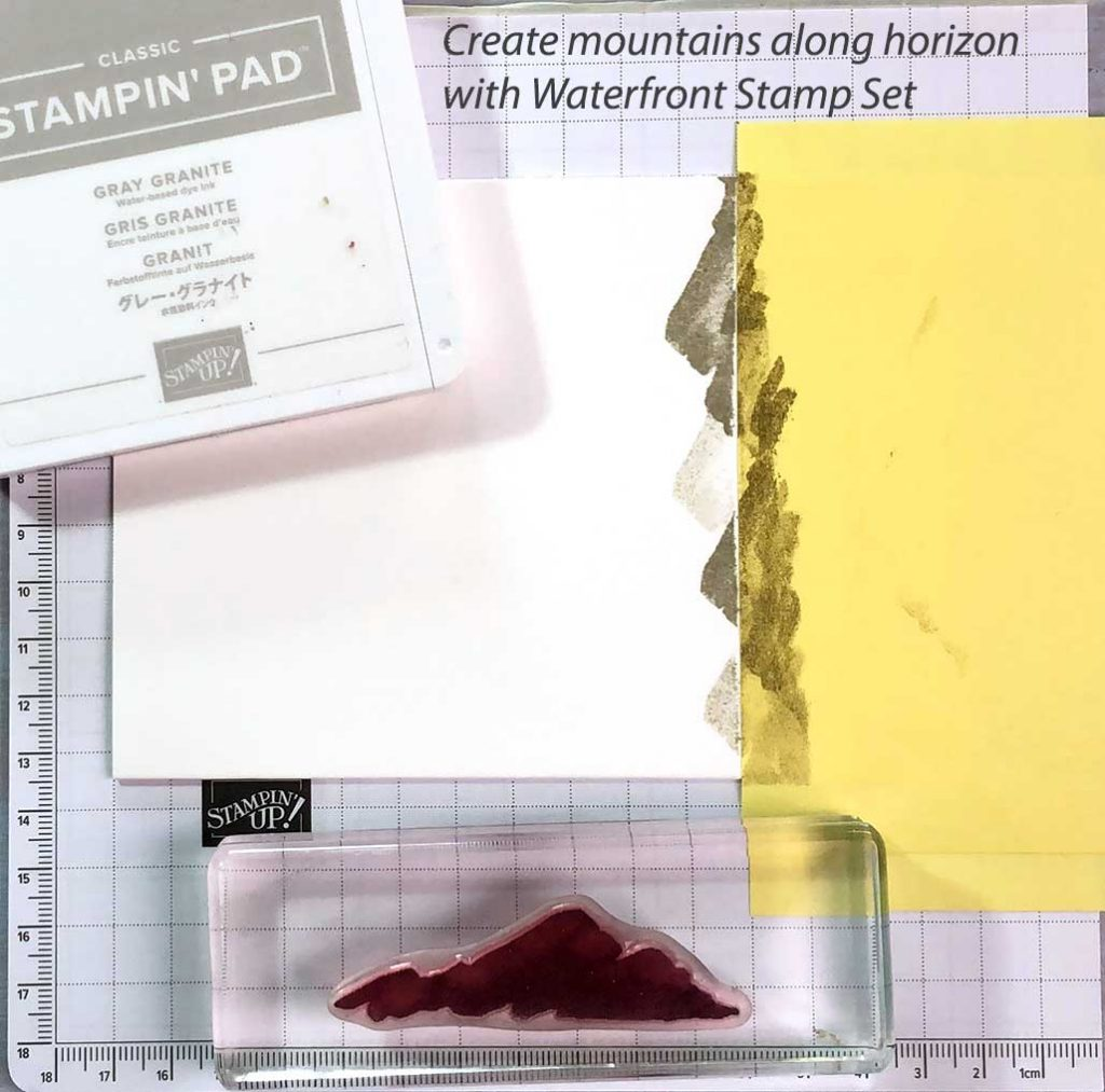 Creating Mountains with Waterfront Stamp Set