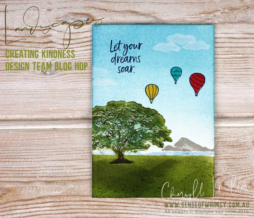 Landscape Card for Creating Kindness Design Team Blog Hop
