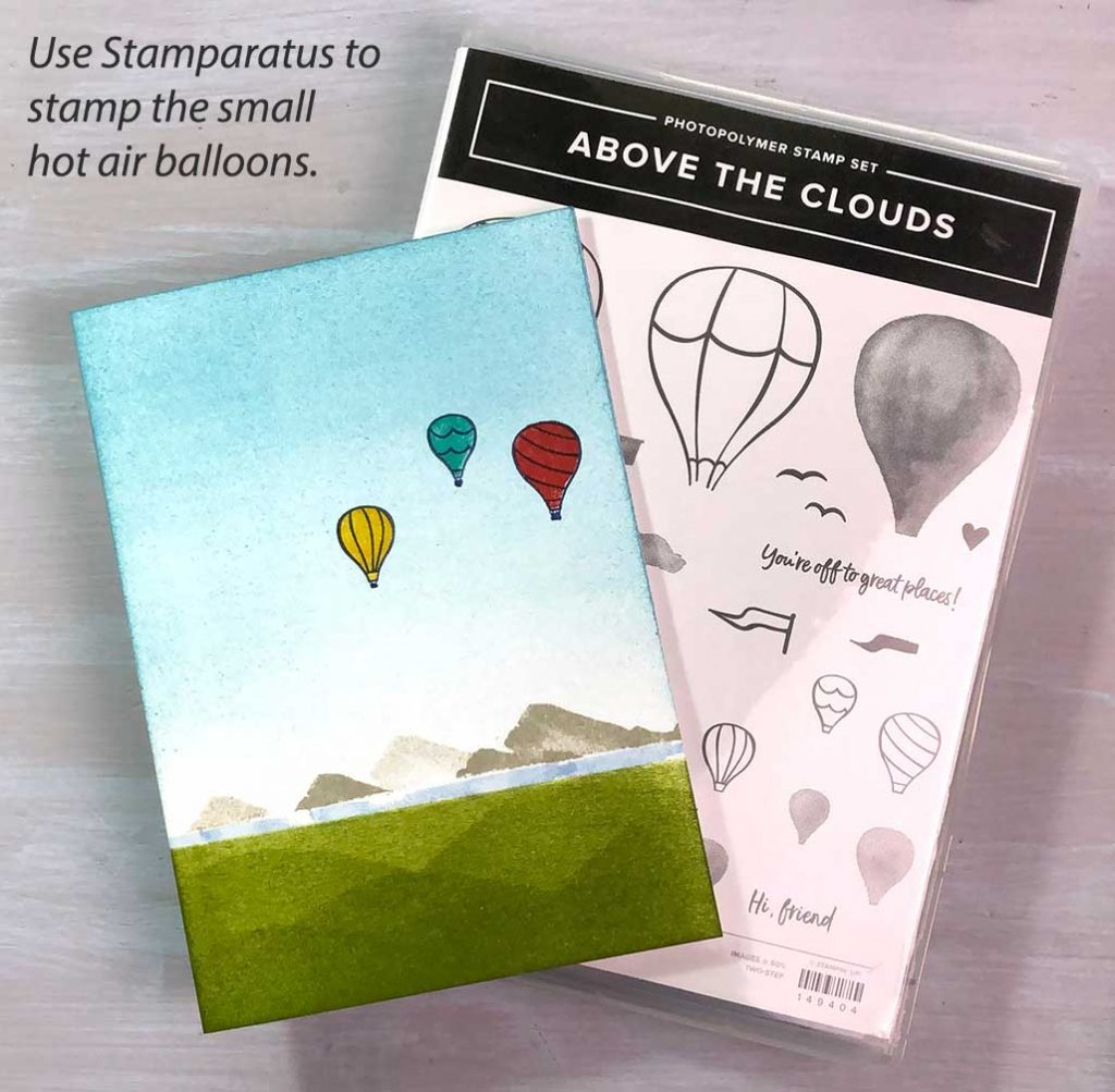 Stamp Hot Air Balloons from Above the Clouds